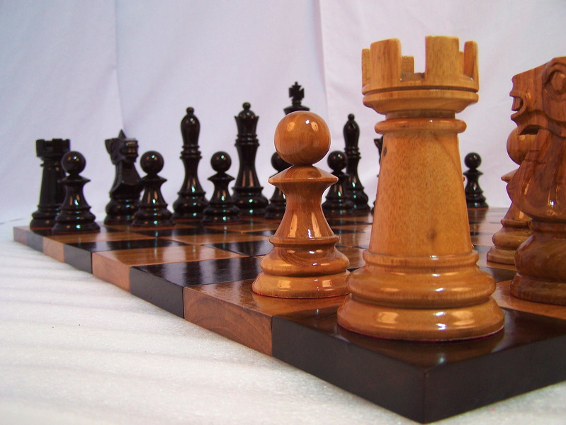 08 Beautiful Wooden Chess Set From
