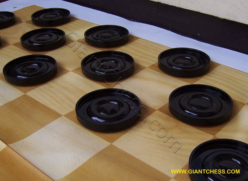 Wooden Checkers Pieces from GiantChess.com | 6.12