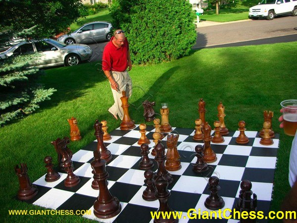 24 Giant Chess Set Wooden Outdoor Chess Interior Home