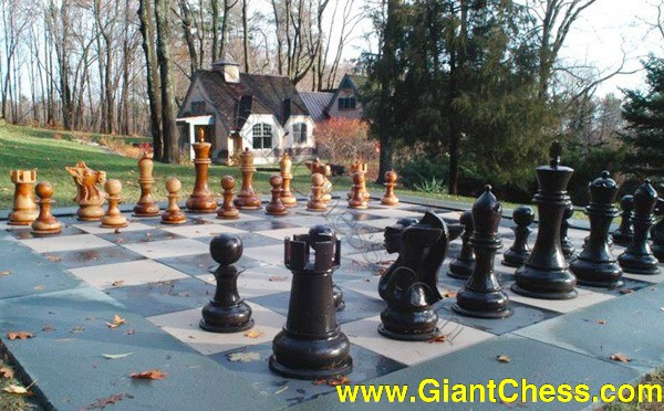 life size chess set on the garden grounds we have a life
