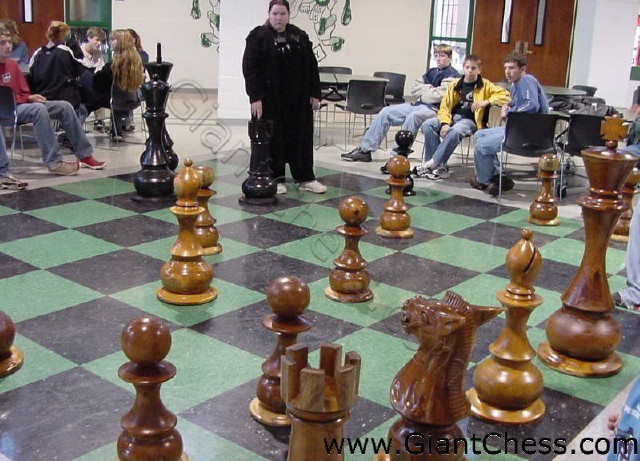 life size chess set at a high in tennessee united