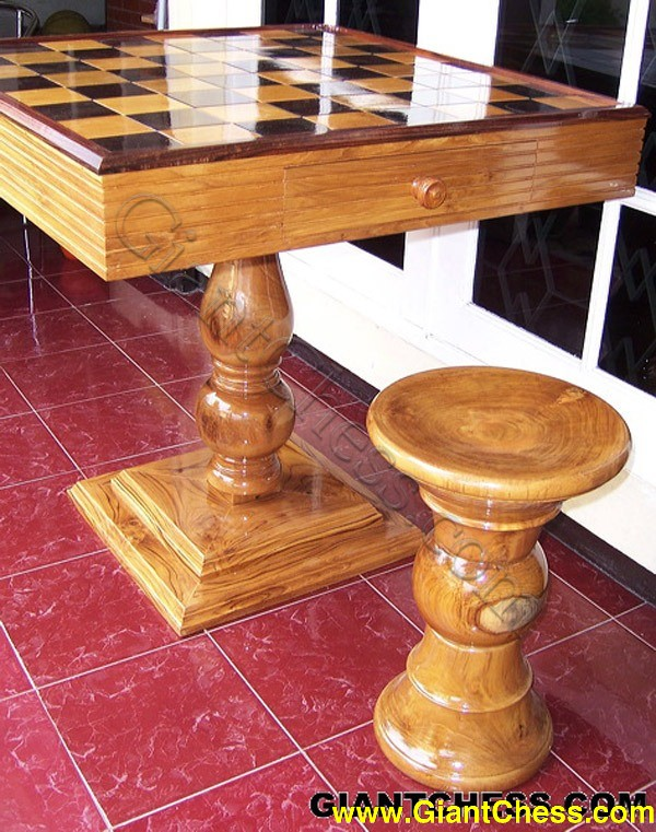 Wooden Chess Table Back Photo Gallery Next