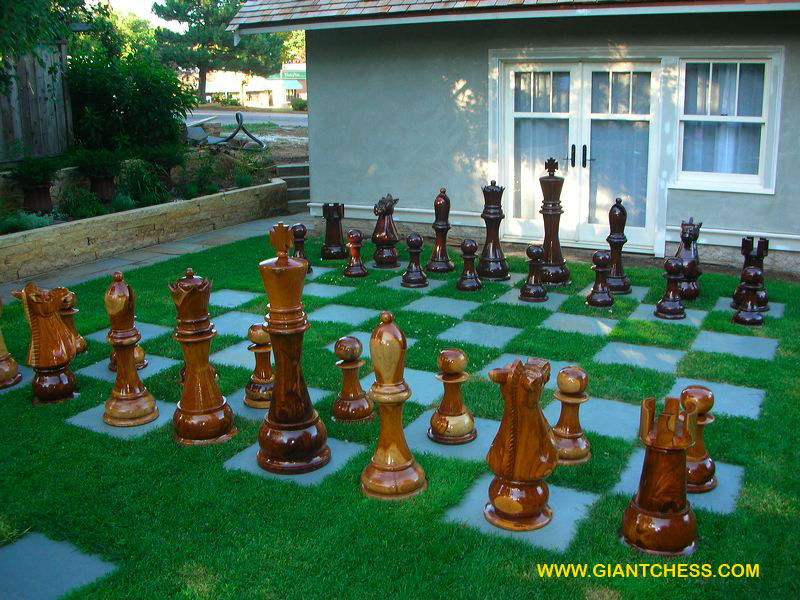 Garden Chess Set Rcg08 4679 The Regency Company Jumbo