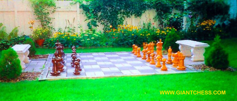 Garden Decoration Ideas Outdoor Wooden Chess