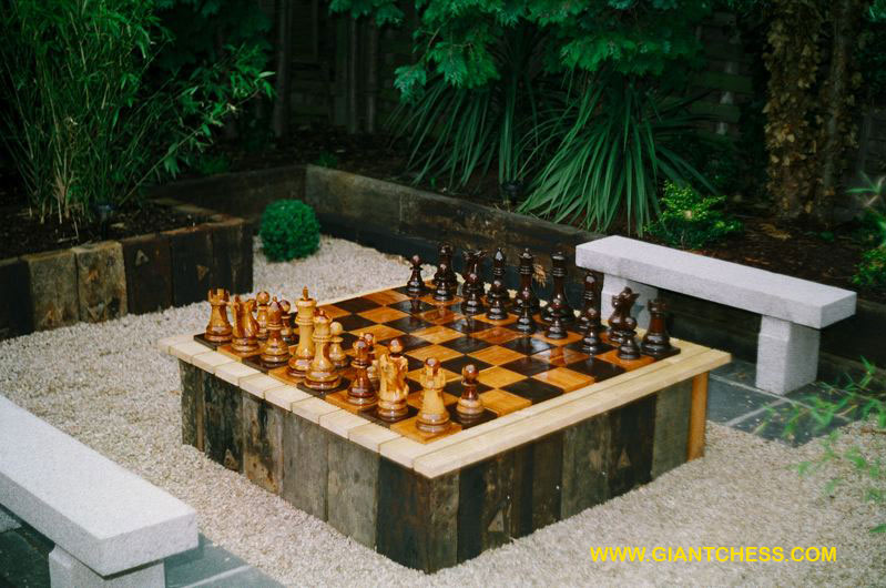 Outdoor Furniture Specialists Giant Chess Sets Are Great